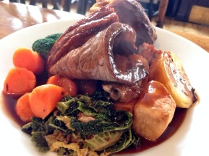 Sunday Roast a speciality - locally sourced, free range and organic